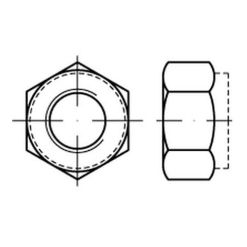 Selbstsichernde Sechskantmutter DIN 6924 M 16 x 2 Stahl galvanisch verzinkt