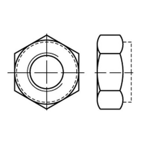 Selbstsichernde Sechskantmutter DIN 980 M 16 x 1,5 Stahl galvanisch verzinkt