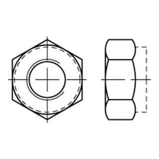 DIN 985 Sechskantmutter mit nichtmetallischem Klemmteil niedrige Form