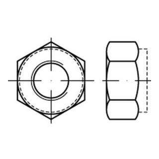 Selbstsichernde Sechskantmutter ISO 7040