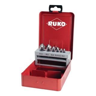 Senkbitsatz 1/4 Zoll 6KT 6,3-20,5mm 90Grad HSS Metallkassette RUKO
