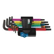 Set de clés mâles coudées WERA 967 SL 9 pces T8 - T40