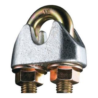 Sicherheitsdrahtseilklemme DIN 1142-EN 13411-5 Gew.M8 Nenn-Gr.10,0mm verz.