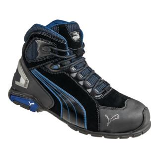 Puma Sicherheitsstiefel Rio Black Mid, EN20345 S3 schwarz/blau