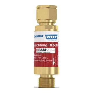 Sicherungseinrichtung RF53N G1/4Zoll RH O2/Druckluft/Gas nach TRAC 207