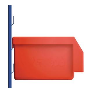 Sichtlagerkasten blau für Schlitzplatte aus schlag- und stoßfestem Polyethylen