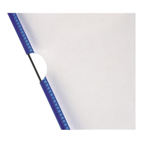 Sichttafeln a.Hartfolie DINA4 blau m.5Aufsteckreitern 50mm reflexfrei