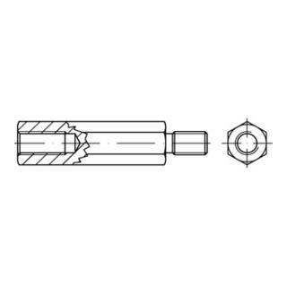 SK-Abst. Bolzen I/A St. gal Zn M 4 x 60 / 9 x 8 SW 7 gal Zn S