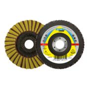 SMT 850 disque a lamelles Klingspor 115 x 22,23 mm Grain 120 très fin convexe