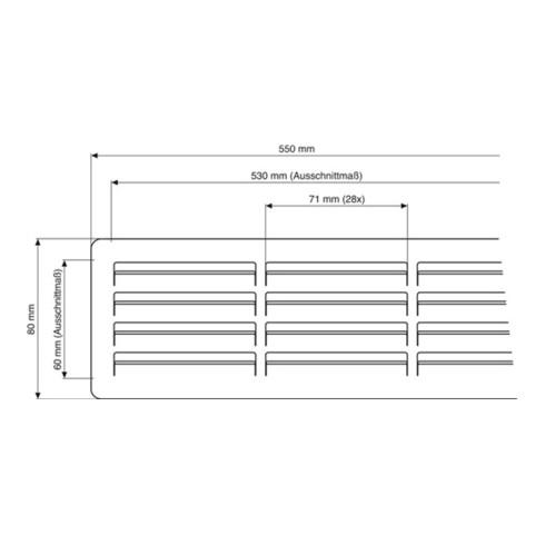 Sockelschutzgitter 3083 550-ER L.550mm B.80mm VA