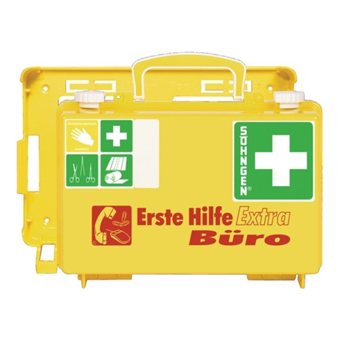 Söhngen Erste-Hilfe-Koffer Büro DIN13157 plus Erw. 260x170x110mm