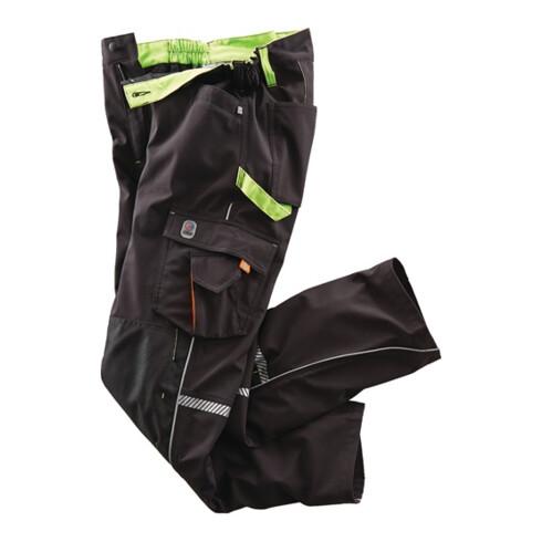 Softshellhose Terrax Workwear Gr.58 schwarz/limette TERRAX