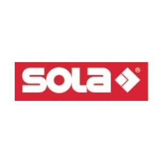 Sola Wasserwaage L.180cm BIG X Libelle/Lupeneffekt Alu.-Profil