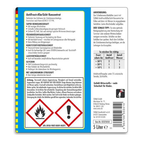 SONAX AntiFrost&KlarSicht Konzentrat 5 l für den Winter
