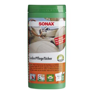 SONAX LederPflegeTücher Box für verschmutztes Leder