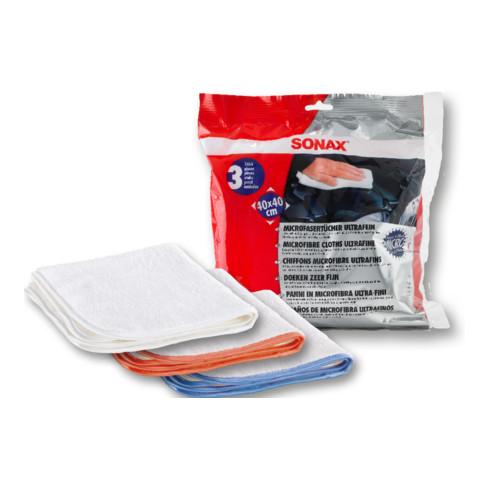 SONAX MicrofaserTuch ultrafein für das Auftragen von Produkten