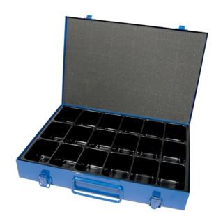 Sortimentskasten 18Fächer Blech B340xT240xH50mm blau Schaumstoffpresspolster