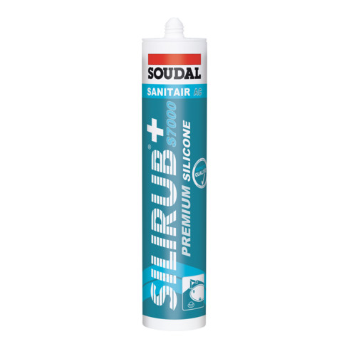 Soudal Fliesensilikon Silirub+ S7000 transparent 300 ml