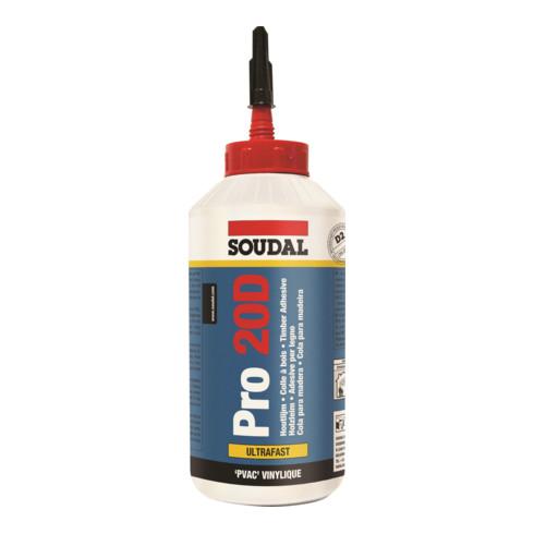 Soudal Holzleim Pro 20D weiss 750 g/750 ml