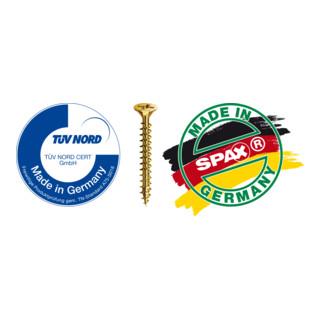 Spax Holzbauschraube 10 x 80 mm Tellerkopf T-STAR plus Vollgewinde 4CUT Verzinkt, gelb passiviert A2L