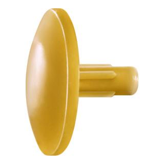 Spax Kunststoff-Abdeckkappen für Spax mit Kopfbohrungocker