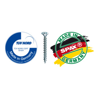 Spax Universalschraube 5 x 50 mm Senkkopf T-STAR plus Teilgewinde 4CUT WIROX A3J