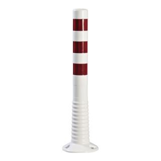 Sperrpfosten Polyurethan weiß/rot D.80mm z.Aufschrauben m.Befestigungsmat.H750mm
