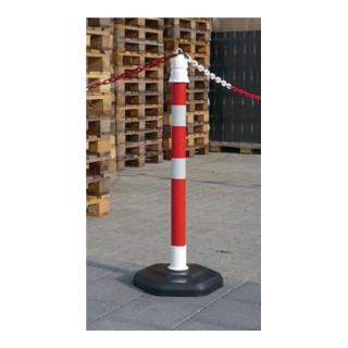 Sperrpfosten PP rot/weiß D.63xH.1000mm z. Aufstellen mit Öse