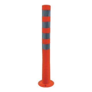 Sperrpfosten PU orange/weiß D80xH1000mm zum Aufschrauben