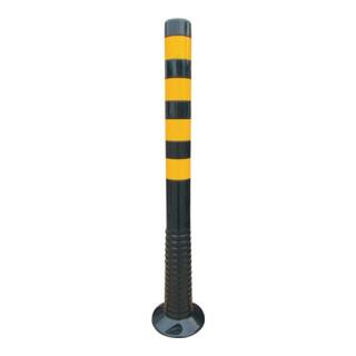 Sperrpfosten PU schwarz/gelb D80xH1000mm zum Aufschrauben