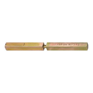 Spezialstift 05 0125 4-KT.9mm L.132 Schl.m.geteilter Nuss