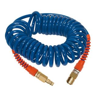 Spiralschlauchset ID 6,3mm AD 9,5mm L.6m PU Kuppl.DN 7,2 Rl.RIEGLER