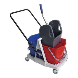 Sprintus Reinigungswagen Eimer 1x17l, Presse Kunststoff mit Metallschubbügel