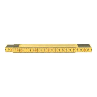 Stabila Holz-Gliedermaßstab gelb 2 m