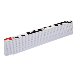 STABILA Holz-Gliedermaßstab Type 1407 GEO, weiß, metrische Skala / Geo-Skalierung