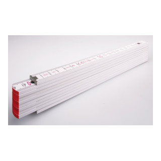 STABILA Holz-Gliedermaßstab Type 1707 2 m weiß, metrische Skala