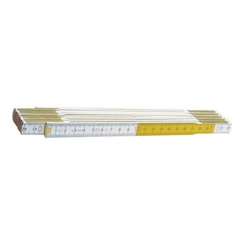 STABILA Holzgliedermaßstab L.2m weiß/gelb wetterfest Genauigk.III