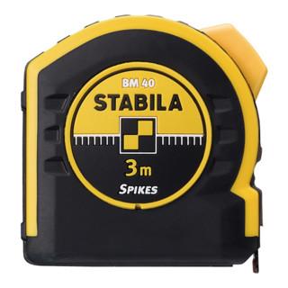 STABILA Taschenbandmaß BM 40, mit doppelseitiger Skala und Spikes-Haken