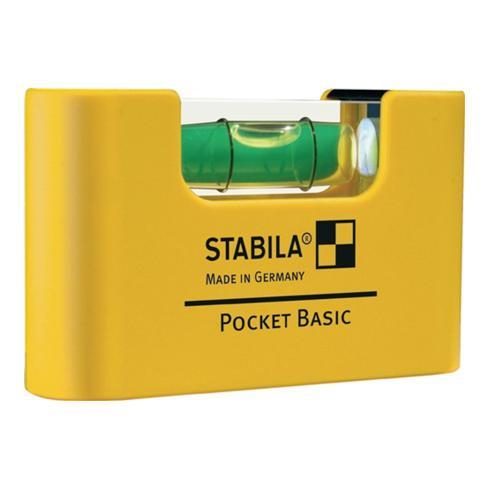 STABILA Wasserwaage Mini a. Kunststoff Pocket Basic 6,8cm