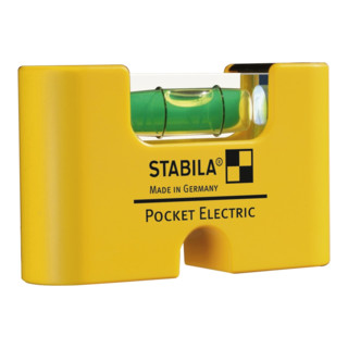 STABILA Wasserwaage Pocket Electric 7 cm mit Seltenerd-Magnetsystem