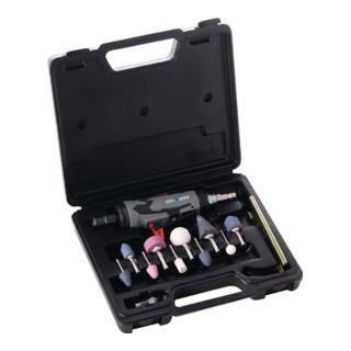 Stabschleifer-Set Druckluft 22000min-1/Spannzange 3+6mm/10 Schleifstifte