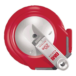 Stahlbandmaß Radius L.15m mm/- weiß Flextop BMI Genauigk.II