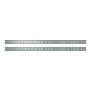 Stahlmaßstab 962 L.150mm Q.13x0,5mm 1/1mm-1/1mm biegsam rostfrei BMI