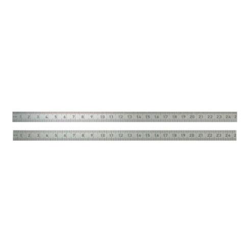 Stahlmaßstab 962 L.500mm Q.18x0,5mm 1/2mm-1/1mm biegsam rostfrei BMI