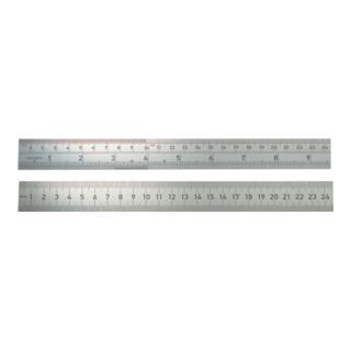 Stahlmaßstab 966 L.500mm Q.30x1,0mm 1/1mm-1/1mm starr rostfrei BMI