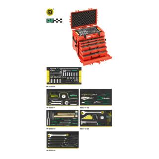 Stahlwille 13214 WT/LR Line Maintenance Set im Werkzeug-Trolley Nr. 13217 26,5 kg