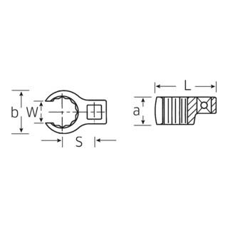 440a CROW-RING-Schlüssel 3/8 3/4