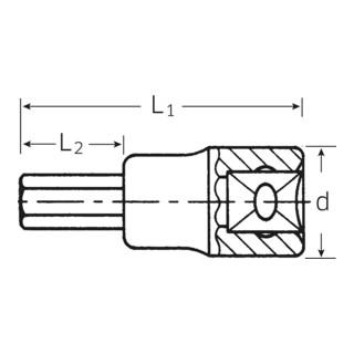 49 INHEX-Einsätze 3/8 4 mm