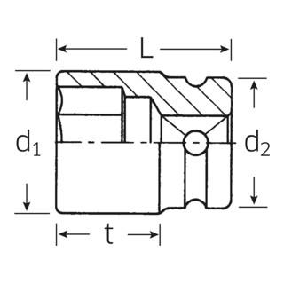 Stahlwille 50IMP IMPACT-Steckschlüsseleinsätze