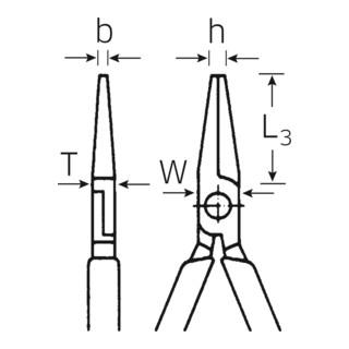 Stahlwille 6509 Flachzange, lang, mit Schneide 160 mm verchromt mit Mehrkomponentengriff